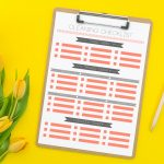 Printable Cleaning Checklist with Daily, Weekly, and Monthly Tasks